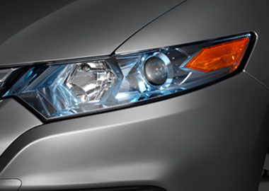 Projector-Beam Halogen Headlights with Blue-Tinted Chrome Bezels
