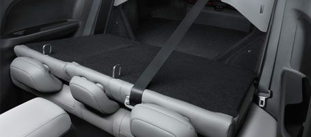 The 60/40 split rear seatback
